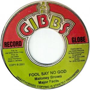 FOOL SAY NO GOD / I WANT YOUR LOVE
