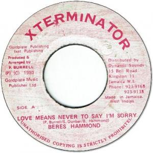 LOVE MEANS NEVER TO SAY I'M SORRY (VG)