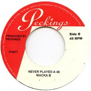 NEVER PLAYED A 45(EX) / GRAPEVINE(EX)