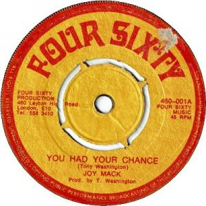 YOU HAD YOUR CHANCE (VG+) / VERSION (VG+)