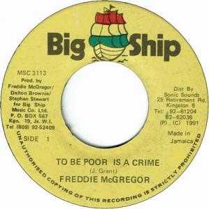 TO BE POOR IS A CRIME(VG+)