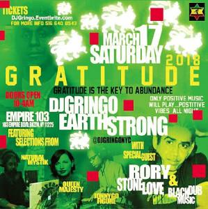 GRATITUDE 2018 DJ GRINGO BIRTHDAY BASH