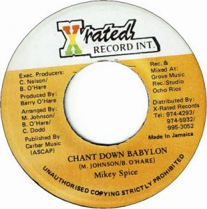 CHANT DOWN BABYLON (VG+)