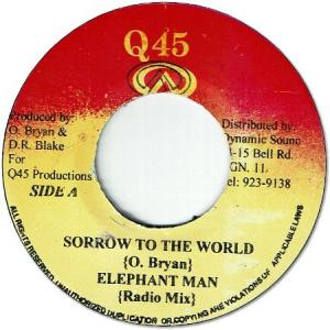 SORROW TO THE WORLD
