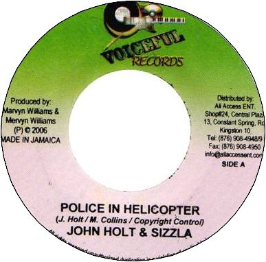 POLICE IN HELICOPTER