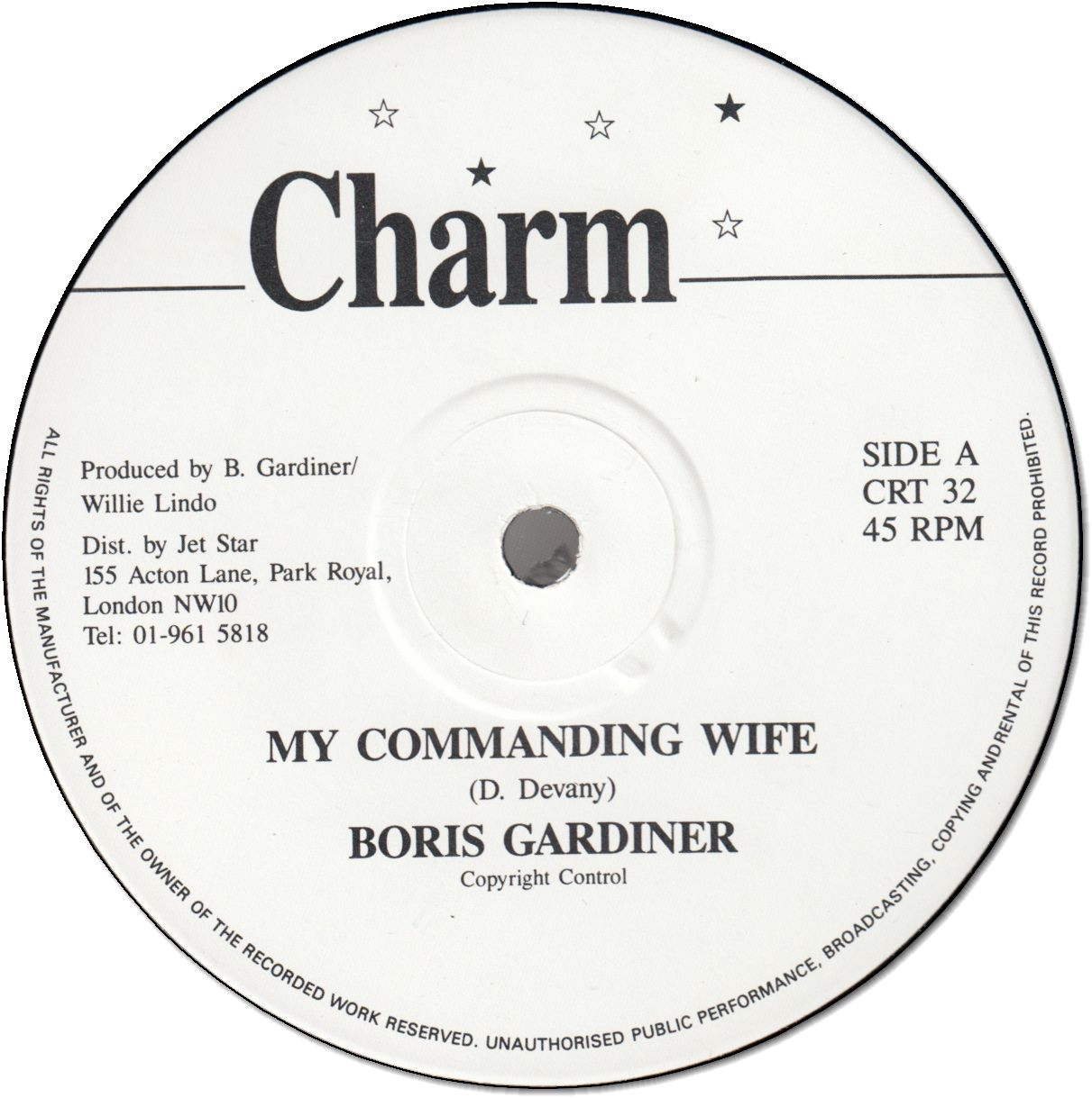 MY COMMANDING WIFE (VG+) / SOMEONE LOVES YOU HONEY (VG+)
