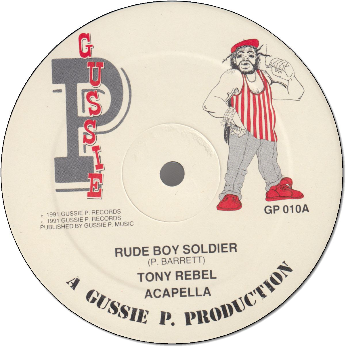 RUDE BOY SOLDIER (VG+) / THE CUTTER(Mega Dub)