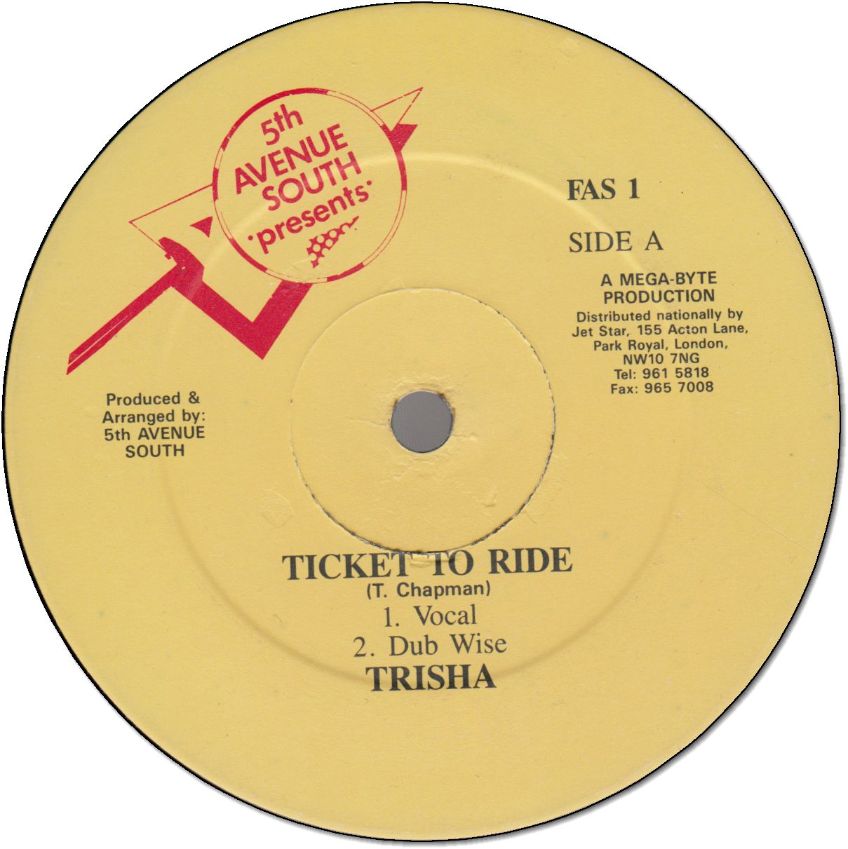 TICKET TO RIDE (VG+)