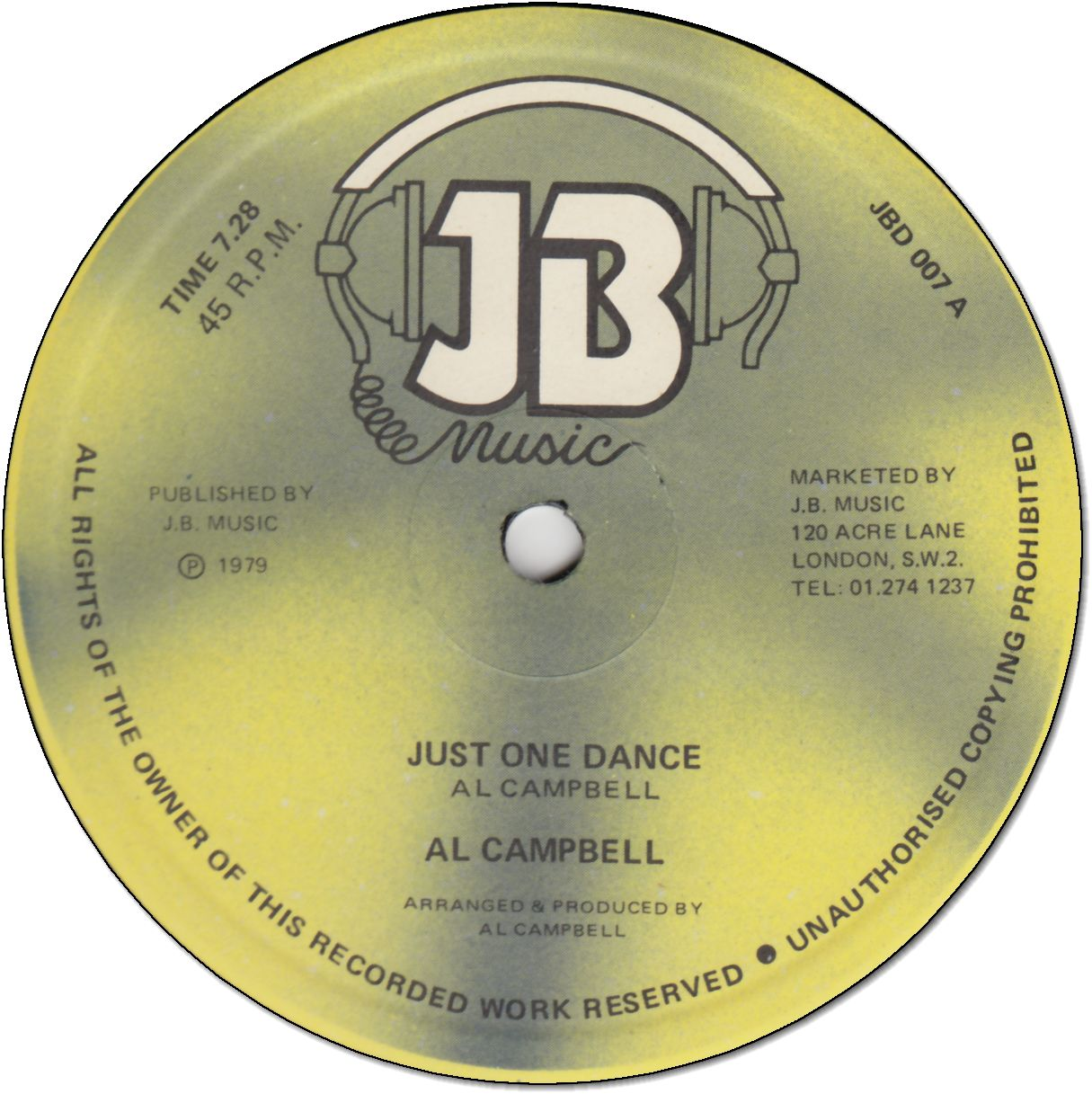 JUST ONE DANCE (VG+) / DANCING TIME (VG+)