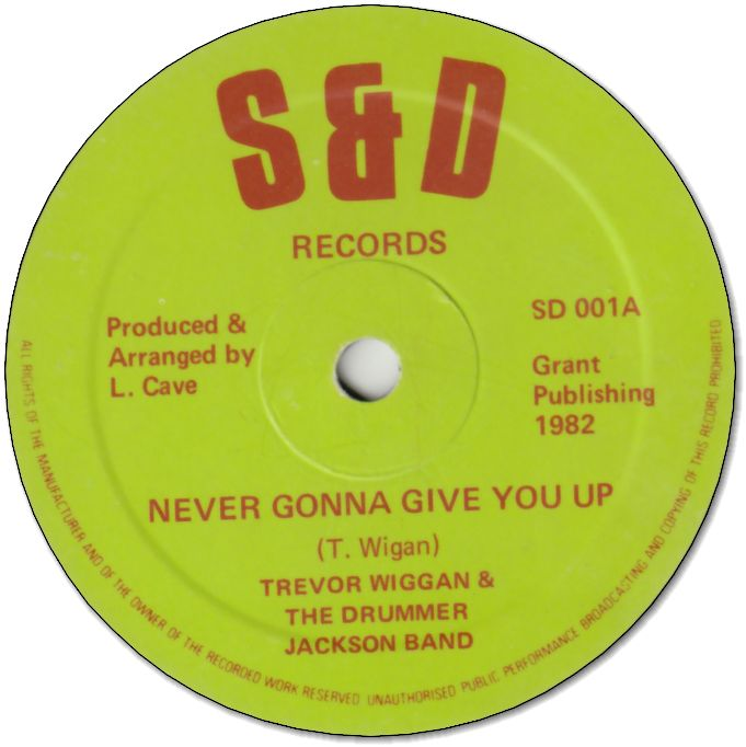 NEVER GONNA GIVE YOU UP (VG) / GIVING UP BAND (VG)