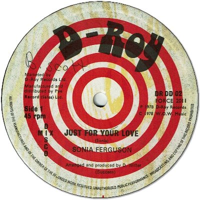 JUST FOR YOUR LOVE (VG+) / HARLESDEN SKANK
