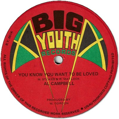 YOU KNOW YOU WANT TO BE LOVED (VG+/WOL) / YOU KNOW YOU WANT TO BE DUB (VG+)