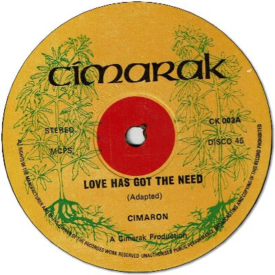 LOVE HAS GOT THE NEED (VG+) / WANTED (VG+)