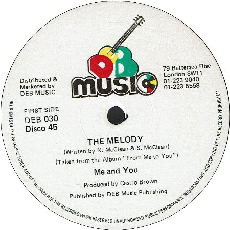 THE MELODY (VG+) / DUB MELODY (VG+)