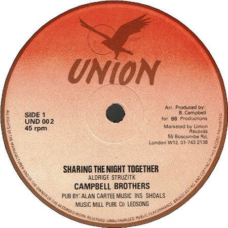 SHARINGTHE NIGHT TOGETHER (VG+) / DUB (VG-)