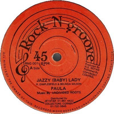 JAZZY (BABY) LADY (VG+) / YOU WANT MY MAN (VG+)
