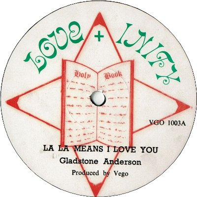 LA LA MEANS I LOVE YOU  (VG) / LOVE BETWEEN A BOY & GIRL  (VG+/WOL)