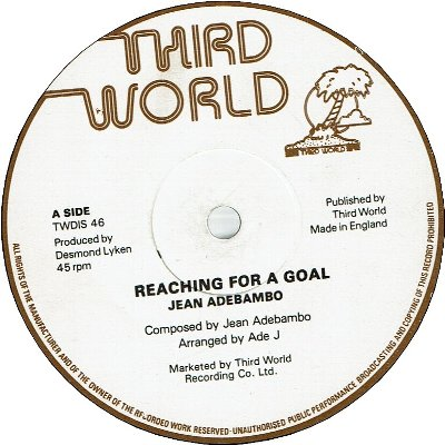REACHING FOR A GOAL (VG+) / I WANT TO MAKE IT WITH YOU (VG+)