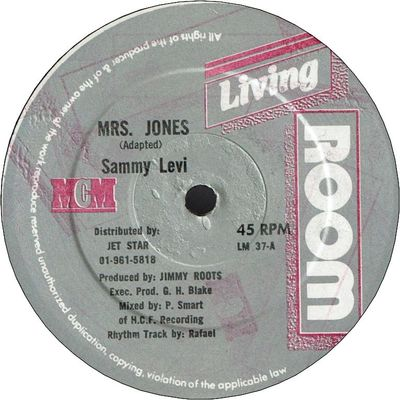 MRS.JONES (VG+) / JUST DON'T WANT TO BE LONELY (VG+/少しセンターずれ)