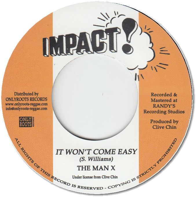 IT WON'T COME EASY / DUB