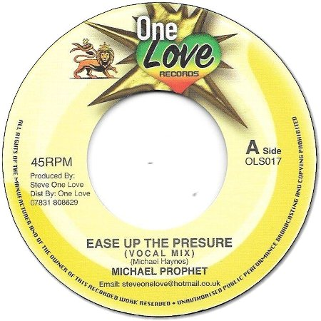 EASE UP THE PRESSURE / EASE UP DUB