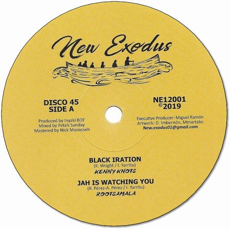 BLACK IRATION / JAH IS WATCHING YOU / ROOTSKANKING