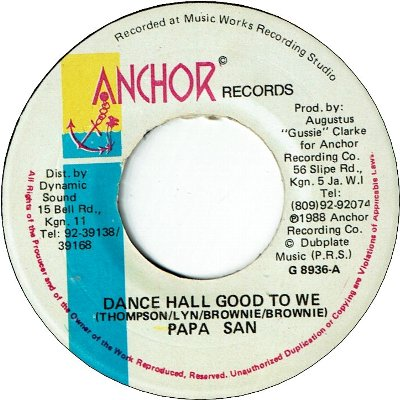 DANCEHALL GOOD TO WE (VG+)
