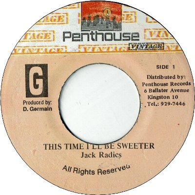 THIS TIME I'LL BE SWEETER (VG) / Unknown Title