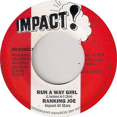 RUN A WAY GIRL / DUB