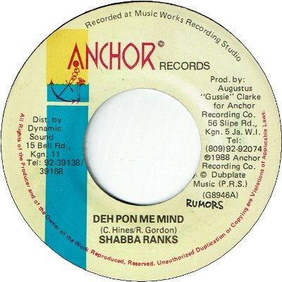 DEH PON ME MIND (VG+/WOL) / FANCY GIRL (VG+/WOL)
