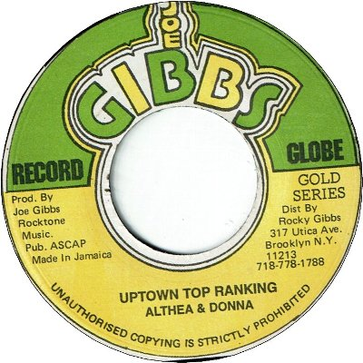 UPTOWN TOP RANKIN (VG+) / VERSION (VG)