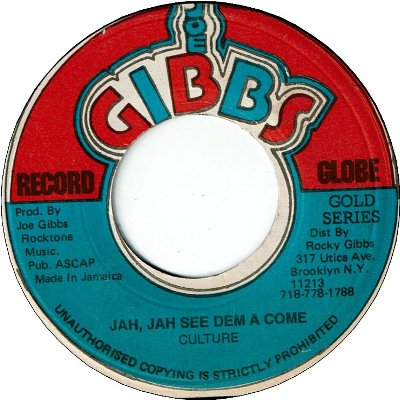 JAH JAH SEE THEM A COME (VG) / VERSION (VG)