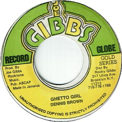 GHETTO GIRL (VG+) / VERSION (VG+)