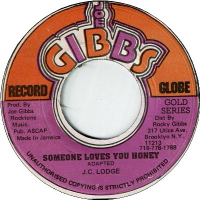 SOMEONE LOVES YOU HONEY (VG+) / VERSION (VG)
