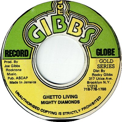 GHETTO LIVING (VG+) / ANYWHERE Version (VG+)
