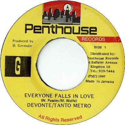 EVERYONE FALLS IN LOVE (VG+) / Freak Out version (VG)