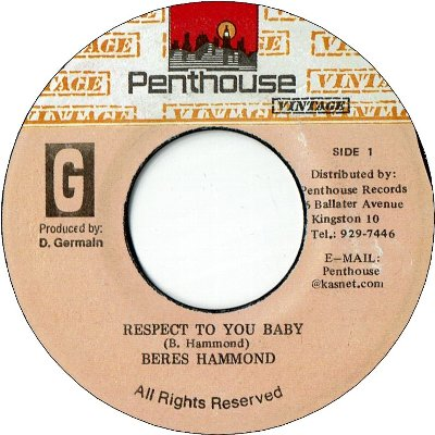 RESPECT TO YOUR BABY (VG) / Run from Progress Version (VG)