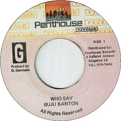 WHO SAY (VG+) / VERSION (VG)