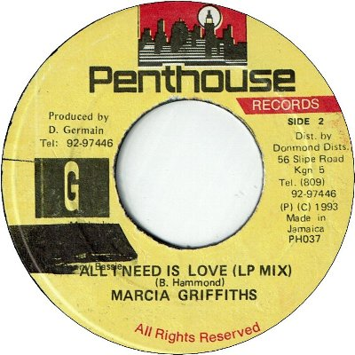 ALL I NEED IS LOVE Remix (VG+) / LP Mix (VG+)