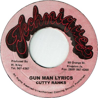 GUN MAN LYRICS (VG) / VERSION (VG+)