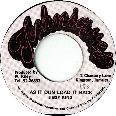 AS IT DUN LOAD IT BACK (VG) / Remix (VG)