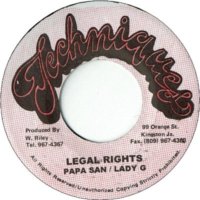 LEGAL RIGHTS (VG) / VERSION (VG)
