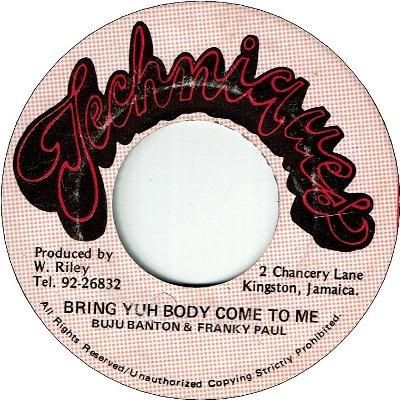 BRING YOU BODY COME TO ME (VG)