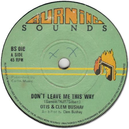 DON'T LEAVE ME THIS WAY (VG- to VG+) / VERSION (VG-)