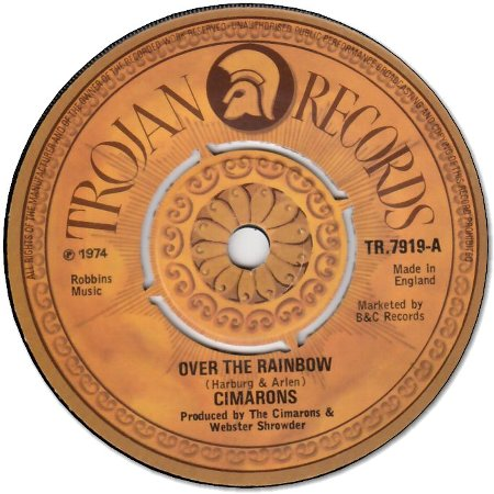 OVER THE RAINBOW (VG+) / WE ARE NOT THE SAME (VG+)