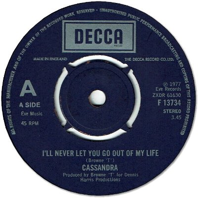 I'LL NEVER LET YOU GO OUT OF MY LIFE (VG to VG+) / VERSION