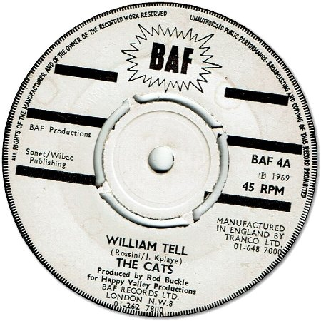 WILLIAM TELL (VG+) / LOVE WALK RIGHT IN (VG)