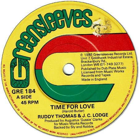 TIME FOR LOVE (VG to VG+) / IN THE SUMMER TIME