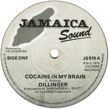 COCAINE IN MY BRAIN (VG+) / FUNKY PUNK (VG+)