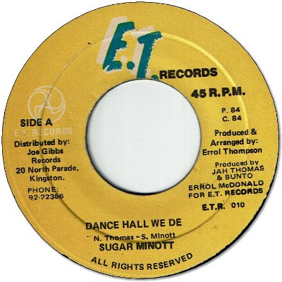 DANCEHALL WE DEH (VG) / VERSION (VG)